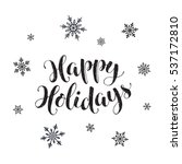 happy holidays postcard... | Shutterstock .eps vector #537172810