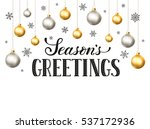 happy holidays greeting card... | Shutterstock .eps vector #537172936