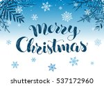 happy holidays postcard... | Shutterstock .eps vector #537172960
