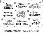hand written new year phrases.... | Shutterstock .eps vector #537173710