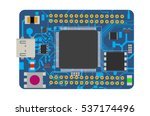 diy electronic mega board with... | Shutterstock .eps vector #537174496
