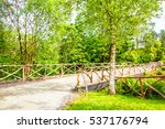 Rural Bridge And Old Fence In...