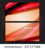 stylish business cards with... | Shutterstock .eps vector #537177388