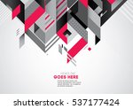 vector of modern abstract... | Shutterstock .eps vector #537177424