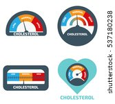 cholesterol meter icons set | Shutterstock .eps vector #537180238