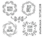 vector floral decorative frames ... | Shutterstock .eps vector #537181108