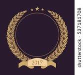 monogram initials. golden... | Shutterstock .eps vector #537181708