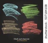 set of vector grunge texture... | Shutterstock .eps vector #537184108