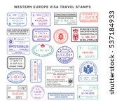 bitmap western europe colour... | Shutterstock . vector #537184933