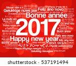 2017 happy new year in... | Shutterstock .eps vector #537191494