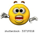 3d illustration of a surprised... | Shutterstock . vector #53719318