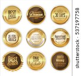 luxury golden labels collection | Shutterstock .eps vector #537197758