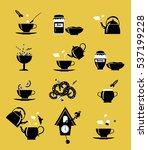 tea ceremony icons. black... | Shutterstock .eps vector #537199228