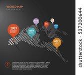 vector world map infographics... | Shutterstock .eps vector #537200644