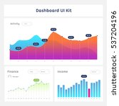 dashboard ui and ux kit. bar...