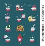 teatime flat icons. design... | Shutterstock .eps vector #537205453