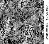 seamless black and white... | Shutterstock .eps vector #537215014