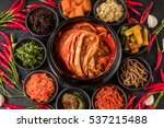 real kimchi which is soaked in ... | Shutterstock . vector #537215488