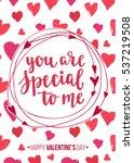 happy valentine's day. modern... | Shutterstock .eps vector #537219508