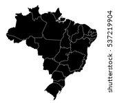 black map of brazil | Shutterstock .eps vector #537219904