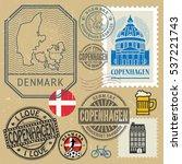 travel stamps or symbols set ... | Shutterstock .eps vector #537221743
