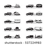 vans and pickup trucks with... | Shutterstock .eps vector #537224983