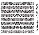 set of vintage border brushes... | Shutterstock .eps vector #537225088