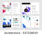 geometric background template... | Shutterstock .eps vector #537228019