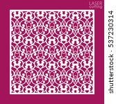 laser cut square ornamental... | Shutterstock .eps vector #537230314