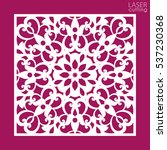 laser cut square ornamental... | Shutterstock .eps vector #537230368