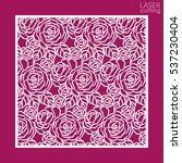 laser cut square ornamental... | Shutterstock .eps vector #537230404