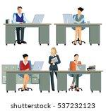 office workers  employee busy ...   Shutterstock . vector #537232123