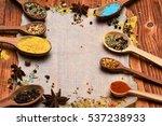 set of various aromatic... | Shutterstock . vector #537238933