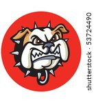 bulldog red circle | Shutterstock .eps vector #53724490