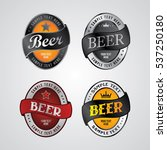brewery beer label theme | Shutterstock . vector #537250180