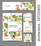 set of promotional flyers with... | Shutterstock .eps vector #537252823