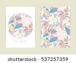 cover design with floral... | Shutterstock .eps vector #537257359