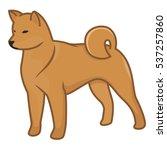 dog shiba inu vector... | Shutterstock .eps vector #537257860