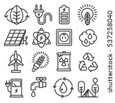 vector icons lines set... | Shutterstock .eps vector #537258040