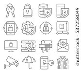 vector icons lines set... | Shutterstock .eps vector #537258049