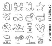 vector icons lines set... | Shutterstock .eps vector #537258160