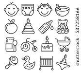 vector icons lines set... | Shutterstock .eps vector #537258166
