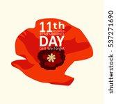 the poppy flower. remembrance... | Shutterstock .eps vector #537271690