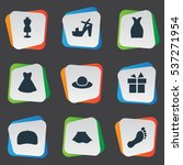 set of 9 simple wardrobe icons. ...