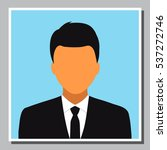 isolated young business man... | Shutterstock .eps vector #537272746