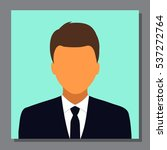 isolated young business man... | Shutterstock .eps vector #537272764