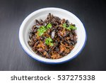 food insect  fried crickets in... | Shutterstock . vector #537275338