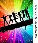party background   Shutterstock .eps vector #53727604