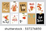 set of christmas gift tags.... | Shutterstock . vector #537276850