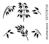 oats collection set. vector | Shutterstock .eps vector #537278710
